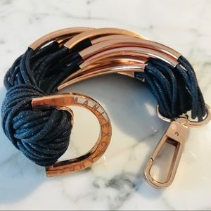 NEW Armani Exchange Navy and Rose Gold Bracelet
